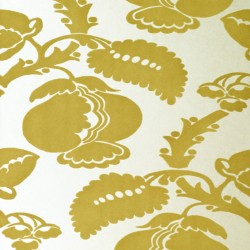 Eglantine Gold Flock Wallpaper