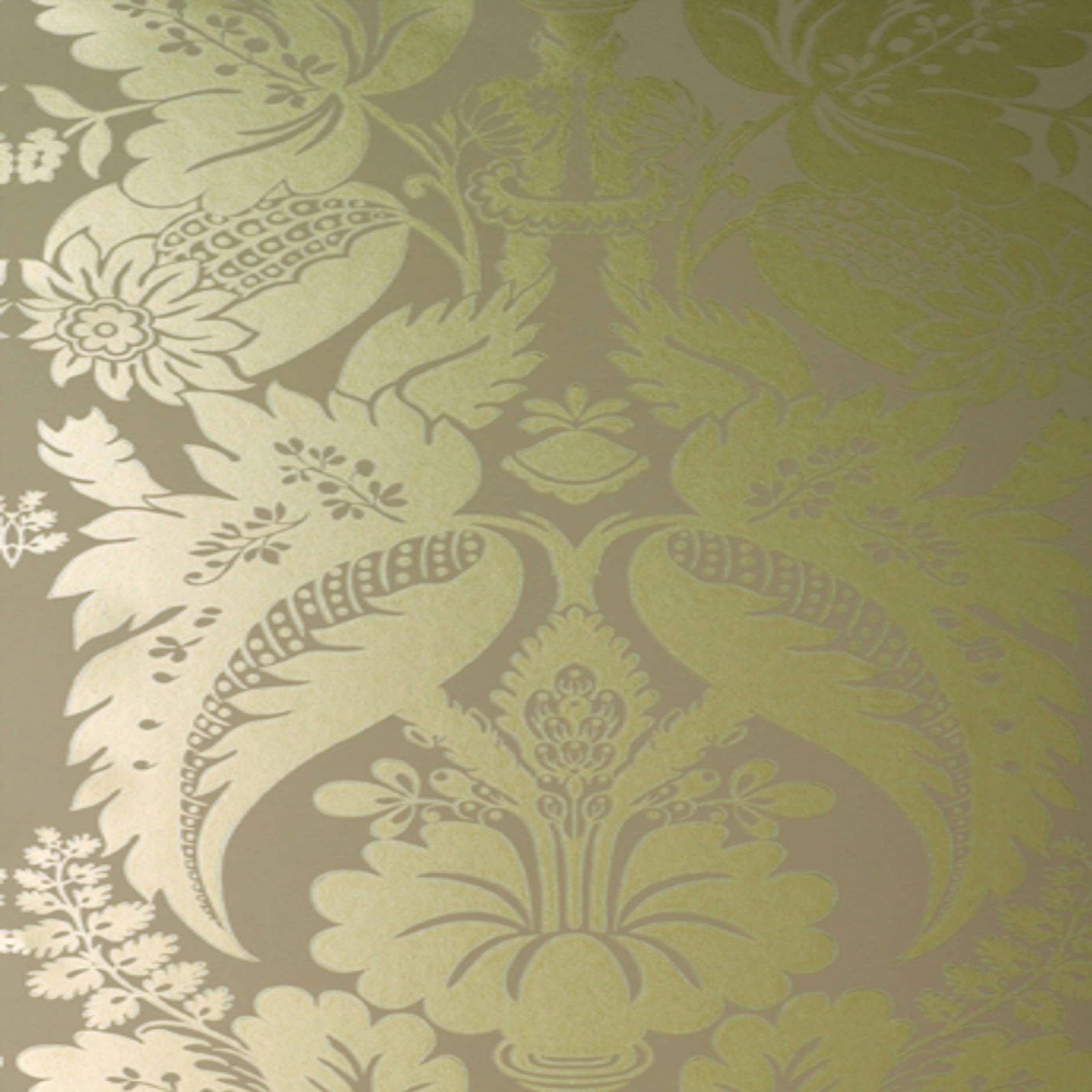 Tyntesfield Gilver On Beige Damask AT10052 WP066