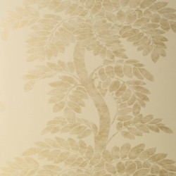 Wisteria Gold on Pale Yellow Wallpaper
