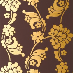 Velvet Jacquard Gold and Chocolate Brown