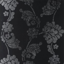 Velvet Jacquard Black and SIlver