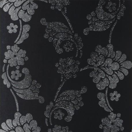 Velvet Jacquard Black and SIlver