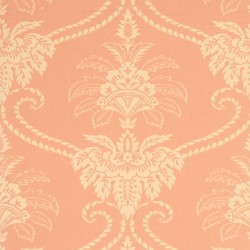 Damask Coral Peach Wallpaper