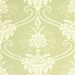 Damask Olive Green and Cream