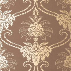 Damask Bronze and Brown