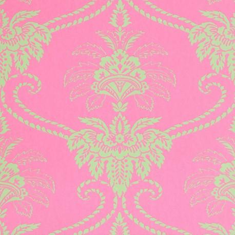 Damask Pink Wallpaper
