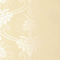 Damask Cream Wallpaper
