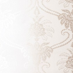 Damask Ivory White Wallpaper