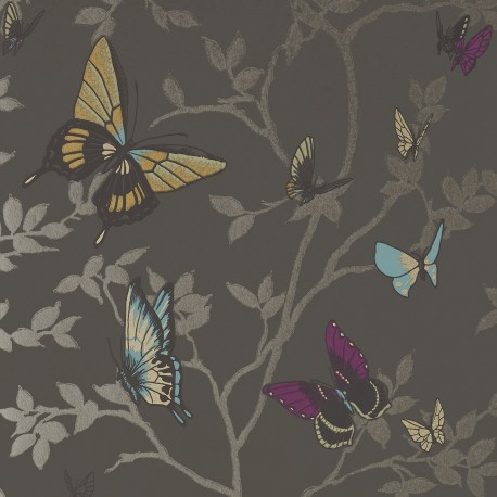 Seraphina Butterfly Charcoal Grey
