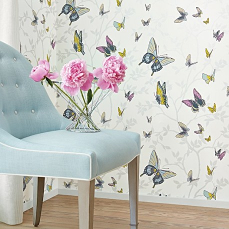 Seraphina Butterfly Metallic Silver