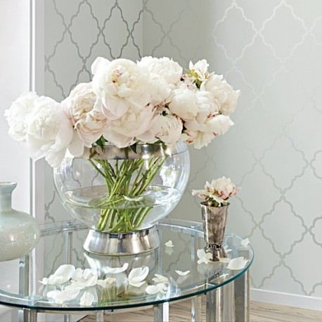 Klein Trellis Silver and Grey