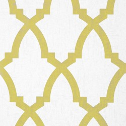 Brock Trellis Citron Yellow and White