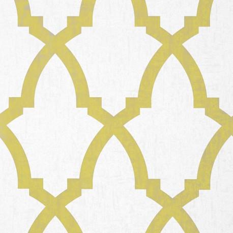 Brock Trellis Citron Yellow and White