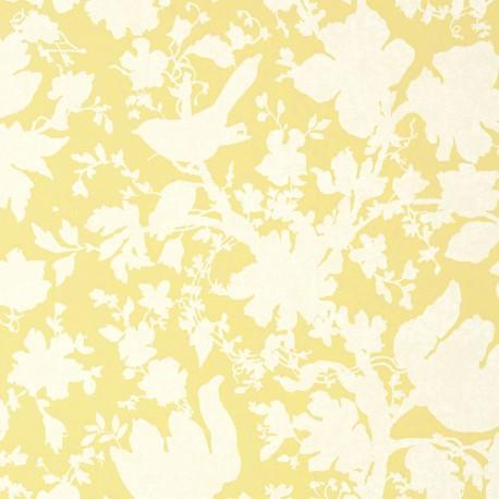 Garden Silhouette Citron Yellow Foral