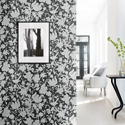 Garden Silhouette Black and White Foral