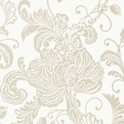 Verey Floral Damask Pearl White