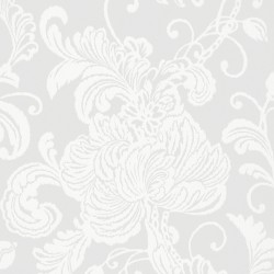 Verey Floral Damask Grey