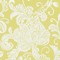 Verey Floral Damask Citron Yellow