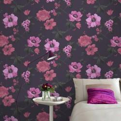 Eden Exotic Purple Wallpaper