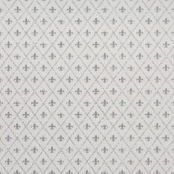 Victoria Silver Grey Fleur De Lis