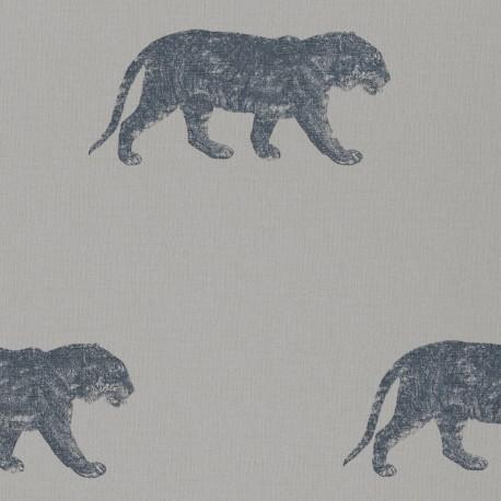 Bundala Tiger Silver Grey and Blue