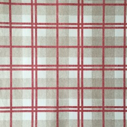 McGregor Tartan Linen Red and Beige