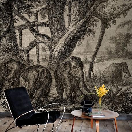 Elephants Wall Mural