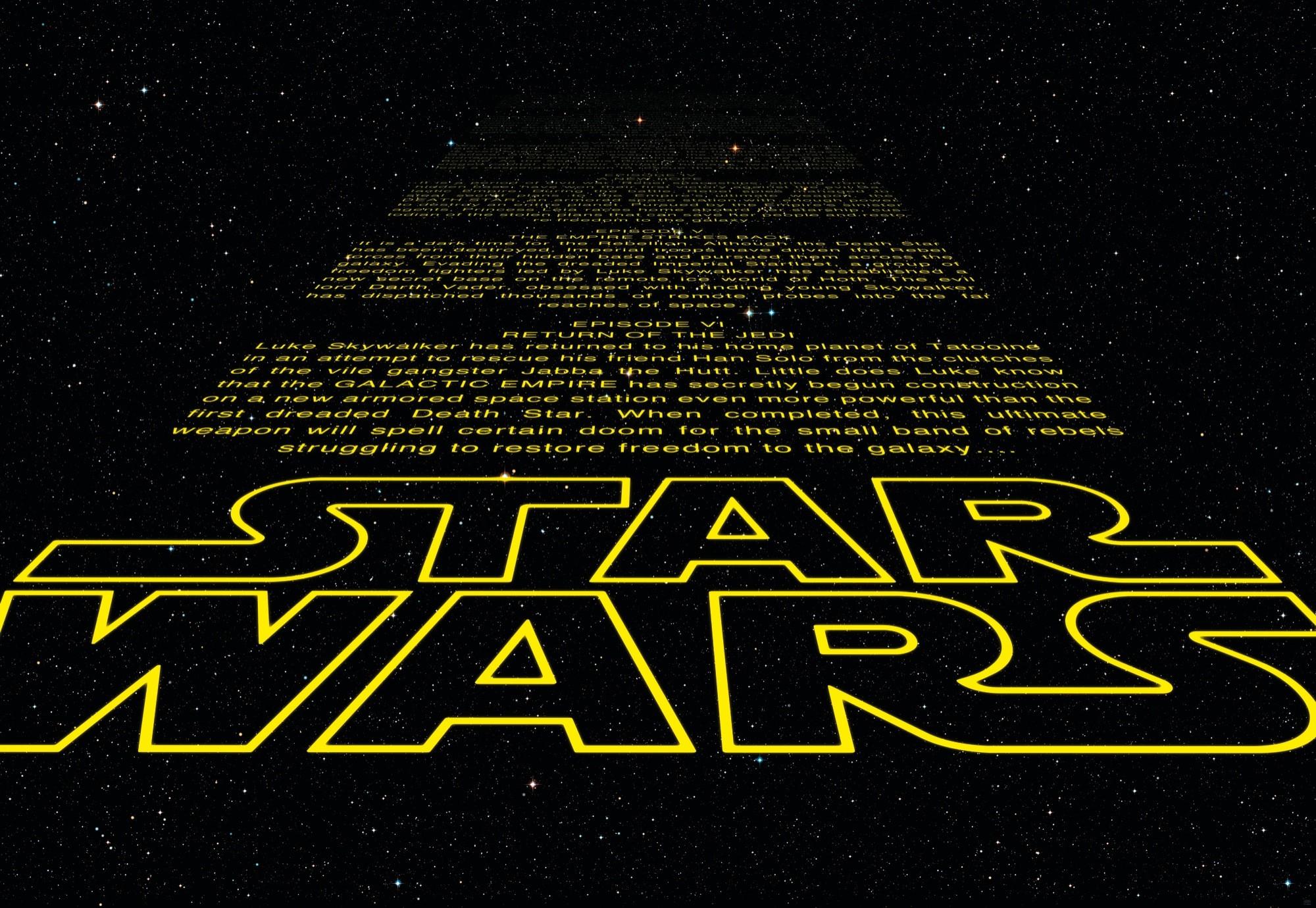 Star Wars Credits Intro Wall Mural 8 705