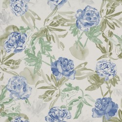Roses Watercolour Blue Wallpaper