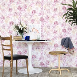 Roses Watercolour Pink Wallpaper