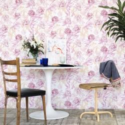 Roses Watercolour Pink Wallpaper