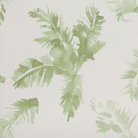 Palmeras Watercolour Fresh Green Wallpaper