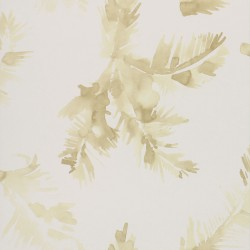 Palmeras Watercolour Golden Yellow Wallpaper