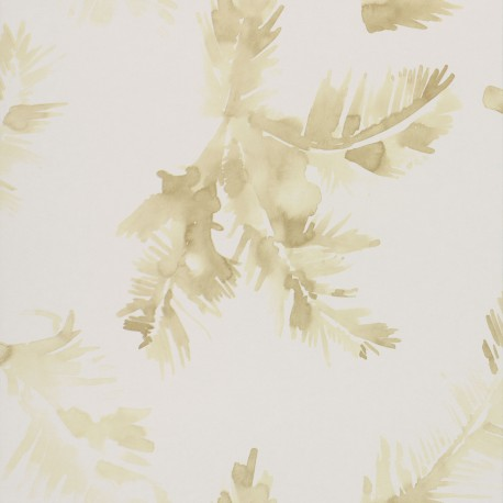 Palmeras Watercolour Golden Yellow Wallpaper