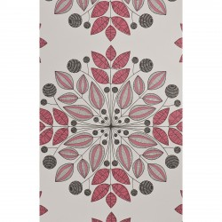 Kaleidoscope Sorbet Pink and Grey Wallpaper