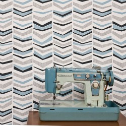 Chevron Bluebird Blue and Grey