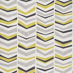 Chevron Mustard Yellow and Grey