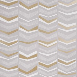 Chevron Humbug Beige and Grey Wallpaper