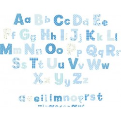 Alphabet Boys Nursery Blue Wall Stickers