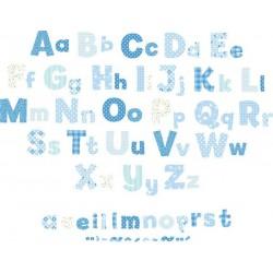 Alphabet Boys Nursery Blue Wall Stickers