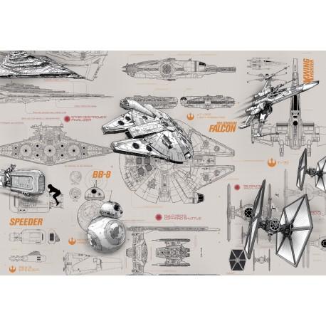 Star Wars BluePrint Wall Mural