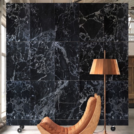 Black Marble Effect Wallpaper