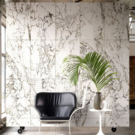 White Marble Effect Wallpaper