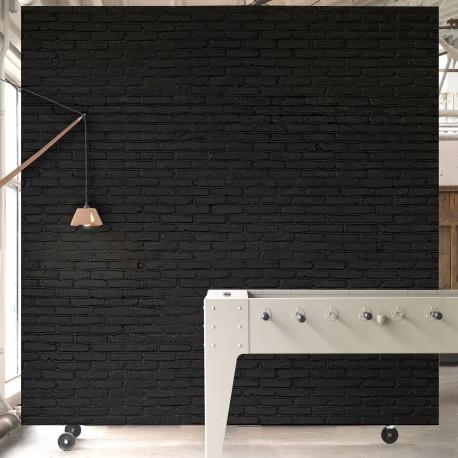 Black Brick Effect Wallpaper