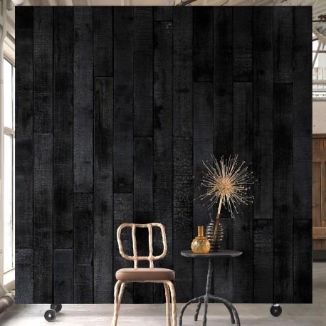 Burnt Wood Effect Wallpaper