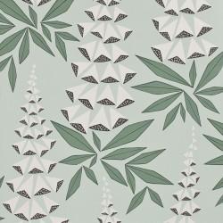 Foxglove Jade Green Wallpaper