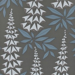 Foxglove Boleyn Dark Grey Wallpaper