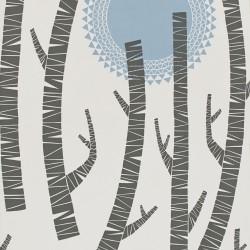 Woods Tokyo Pale Blue Wallpaper