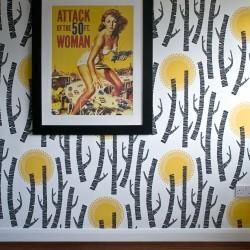 Woods Solar Yellow Wallpaper