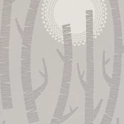 Woods Haze Light Grey Wallpaper
